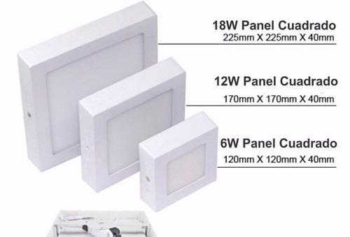 panel led sobreponer 24w, luz blanca, tecnologia alemana