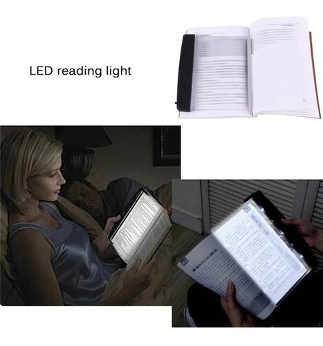 panel luz led lectura protección ocular libros noche