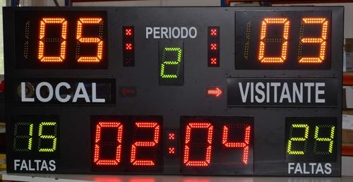 panel marcador electronico deportivo canchas de 1.20 x 80