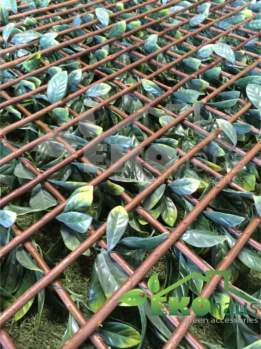 Panel muro verde plantas y enredadera artficial 1 000 for Que planta para muro exterior vegetal