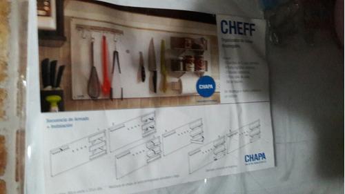 panel organizador de cocina desplegable color blanco