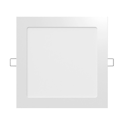 panel paflon led 12w embutir cuadrado blanco luz fria