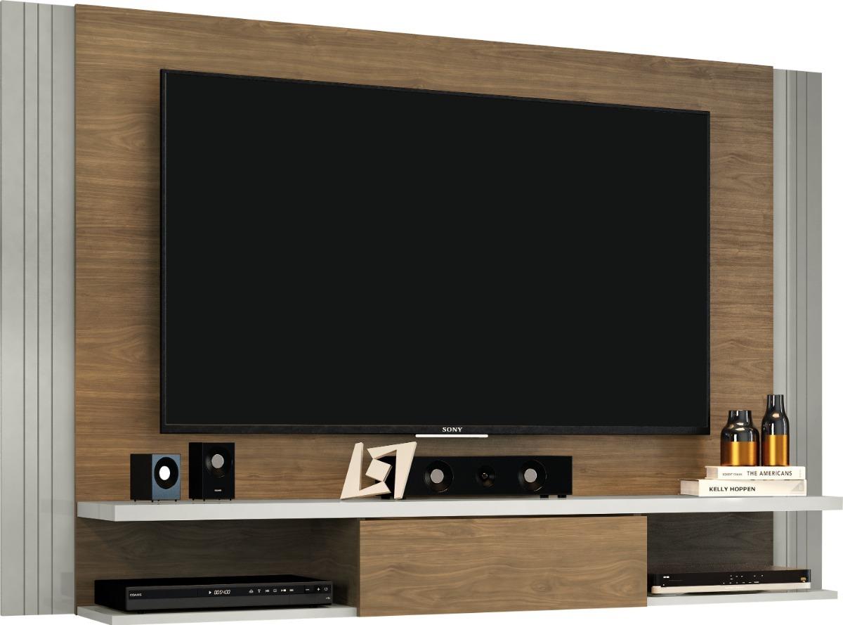 Sala De Tv Moderna Y Sofisticada.Panel Para Tv Jabuti Avellana Mueble Para Tv Salas Moderno