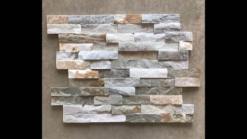 panel piedra natural color claro revestimiento inter y exter