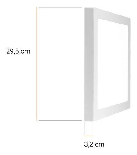 panel plafon cuadrado 24w led calido frio aplique premium