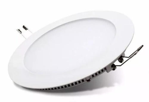panel plafon embutir circular led 12w luz calida o fria