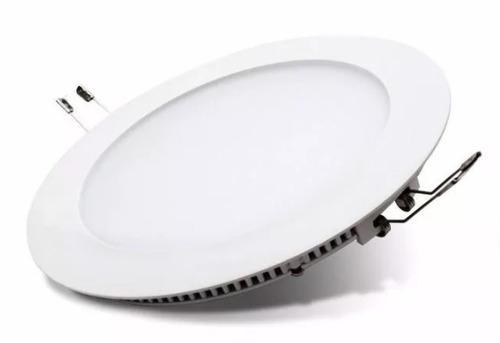 panel plafon embutir circular led 6w luz calida o fria