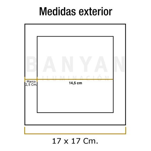 panel plafon led 12w embutir spot cuadrado 220v calido frio