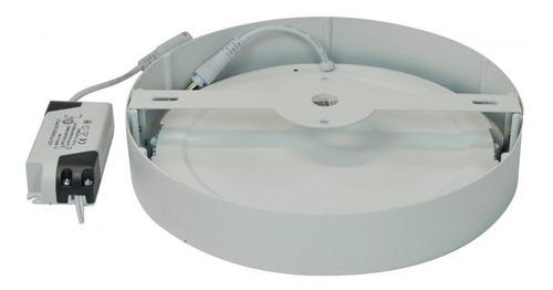 panel plafon led 18w x6 redondo blanco bajo consumo aplique