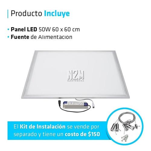 panel plafon led 60x60 cm 36w cuadrado embutir pack 4