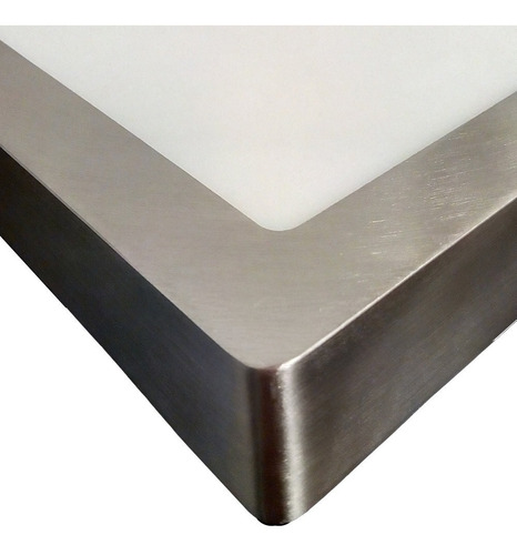 panel plafon led cuadrado 18w interior aplique marco niquel
