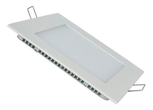 panel plafon led cuadrado 24w blanco luz techo embutir