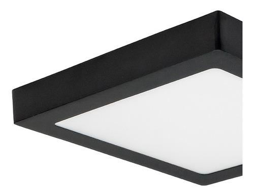 panel plafon led cuadrado 24w interior aplique cocina negro