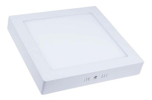 panel plafon led cuadrado 6w exterior blanco frio decodiseño