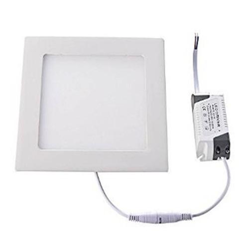 panel plafon led de 18w spot cuadrado de embutir frio 220v
