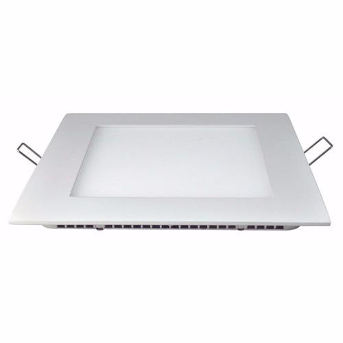 panel plafon led spot cuadrado 18w embutir pack 10 n2m