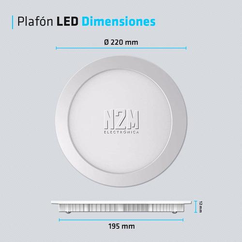 panel plafon led spot redondo 18w embutir iluminacion techo