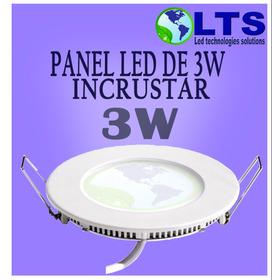 Panel Redondo De Incrustar De 3w Luz Blanca