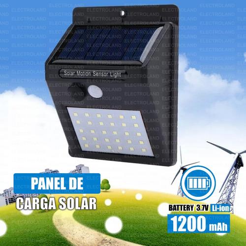panel reflector solar 20 led  sensor movimiento exterior