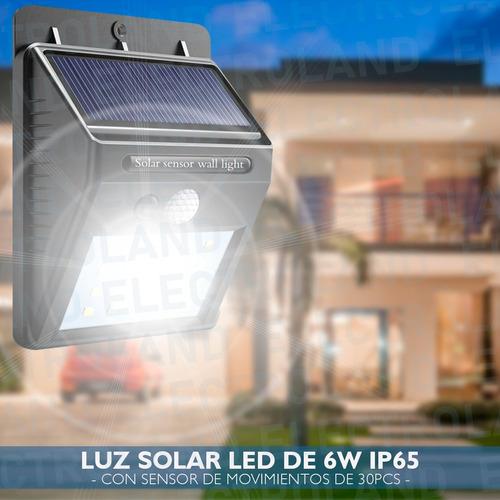 panel reflector solar 30 led 6w ip 65 para exterior fijo