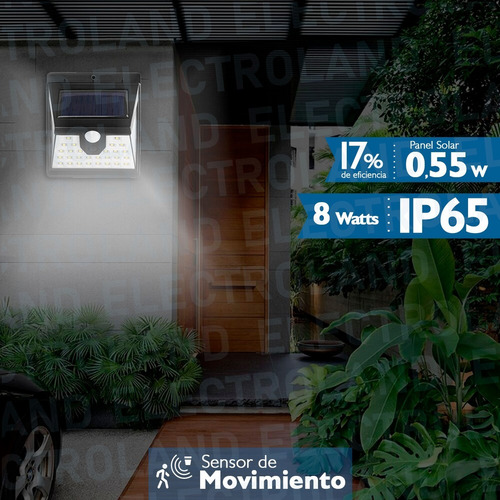 panel reflector solar 40 led 10w ip65 exterior 3 funciones