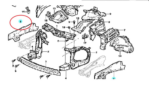 panel refuerzo guardafango meriva