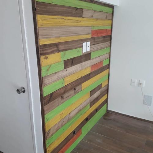 panel rustico para tv led . precio x metro  cuadrado
