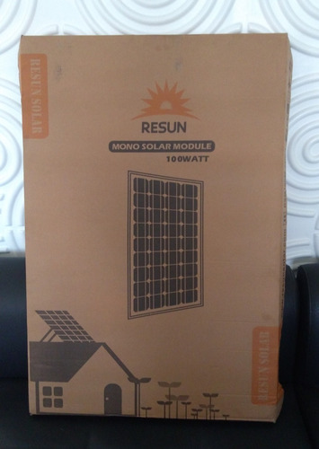 panel solar 100w monocristalino 100 watts - 12v