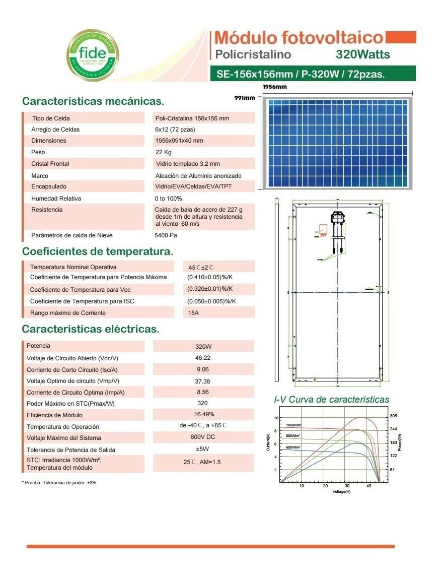 Panel Solar 320w Interconexion 24v Modulo Solis Cale Lth Cfe