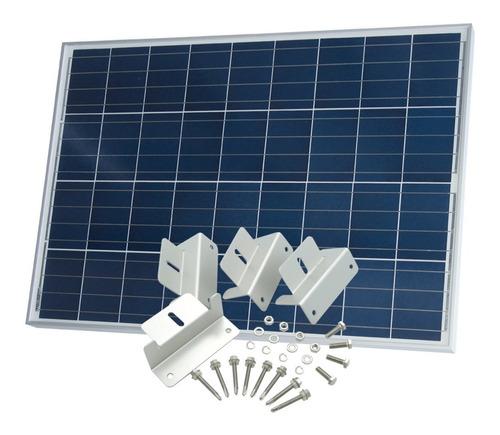 panel solar 90w policristalino con soportes - ps90 - enertik