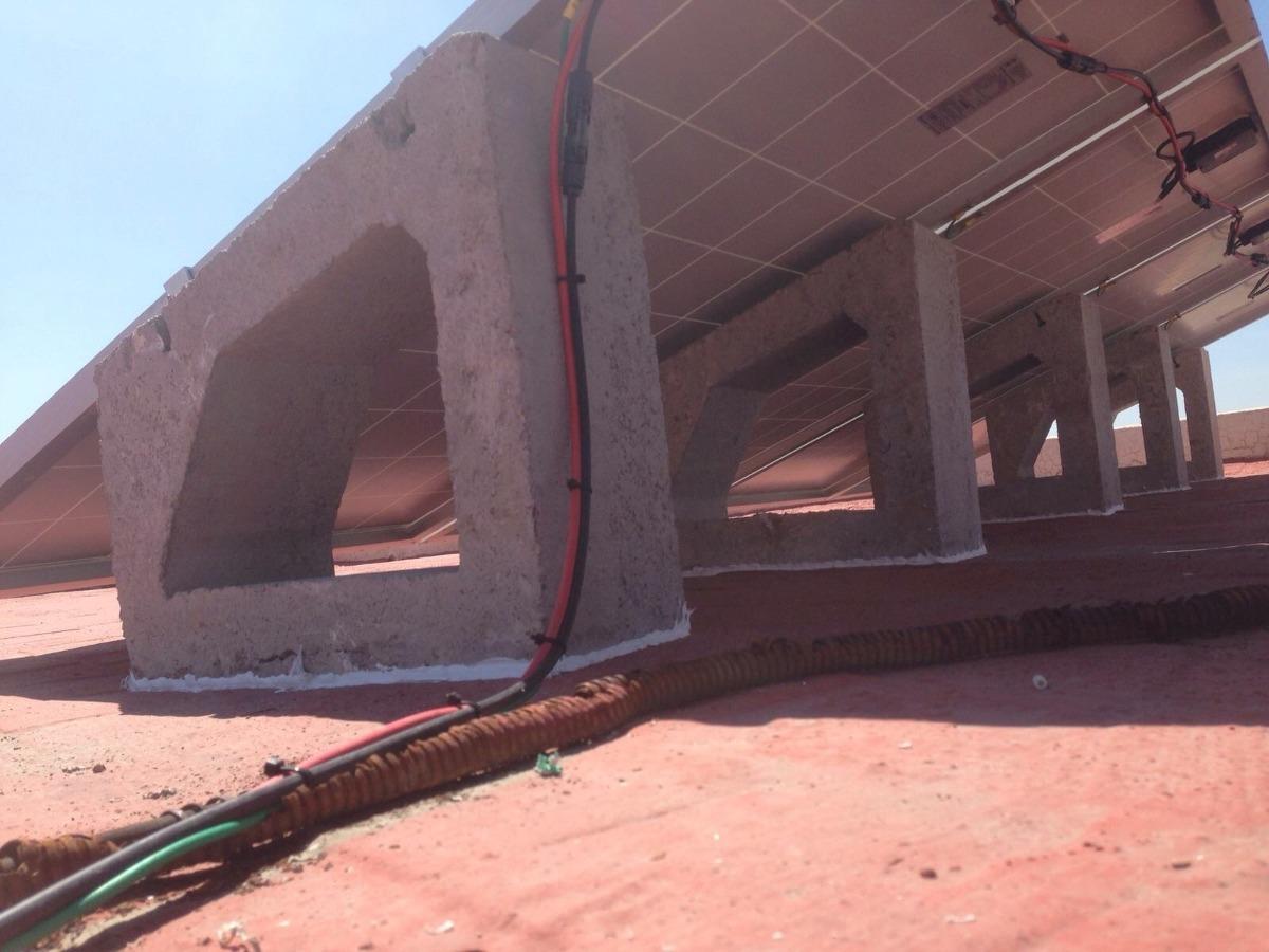 Estructura Para Panel Solar De Concreto Con Opresores U