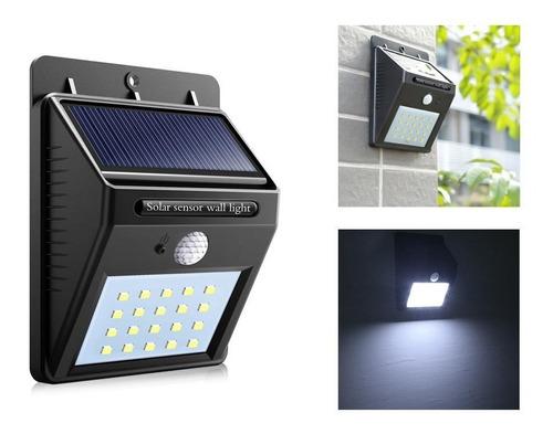 panel solar con sensor movimiento para pared exterior fijo