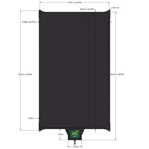 panel solar de 10 vatios con microcontrolado bateria incorp