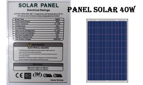 panel solar dif potencia 100w 60w 50w 40w 30w 20w 15w 10w 5w