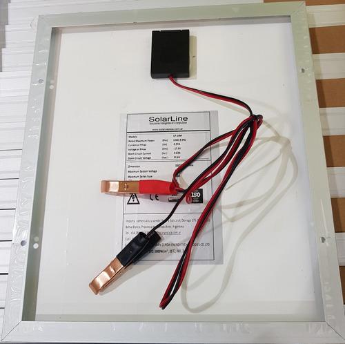 panel solar fotovoltaico 10wp 10watts p/ cargar baterías 12v