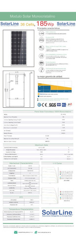 panel solar fotovoltaico 185 watt 185 watts 185wp 185w mc4
