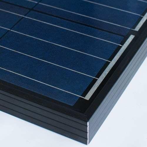 panel solar fotovoltaico 50w policristalino negro - enertik