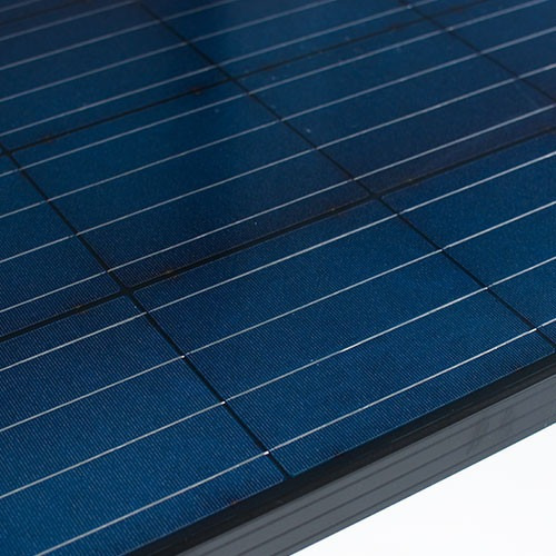panel solar fotovoltaico 80w policristalino negro - enertik