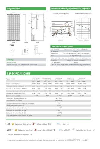 panel solar jinko 345w 72 celdas- monocristalino- liquido!!!
