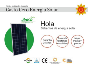 Panel Solar Jinko Lider Mundial Policristalino 275w