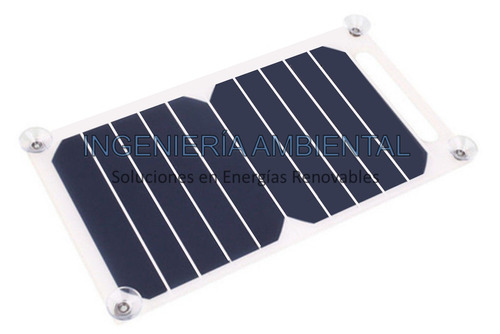 panel solar portátil - cargador celular  10 watts 5v liviano