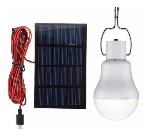 panel solar y lampara led 20w foco portatil bombilla xto