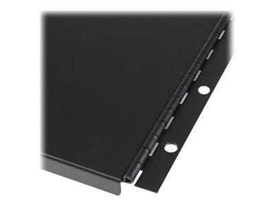 panel startech.com ciego sólido 6u c/bisagra p/batidor negro