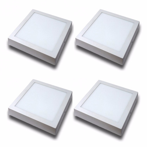 panel superficial led cuadrado 18w luz fría o cálida sica