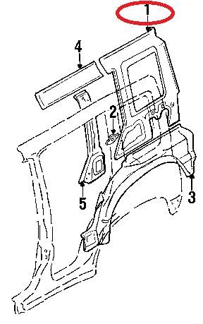 panel trasero vitara lado piloto