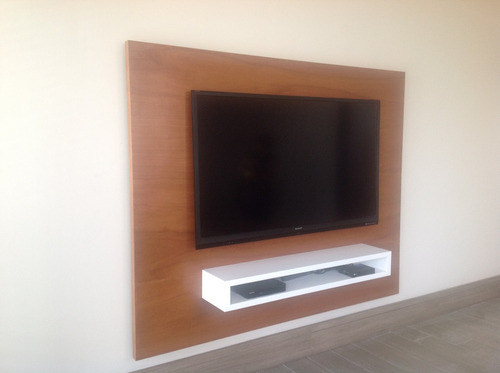 panel tv libre de cables hermoso! en 1.80 ms