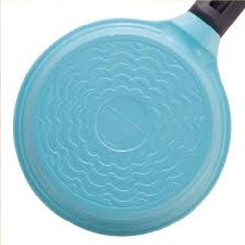 panela cerâmica cabo em baquelite. tampa de vidro.