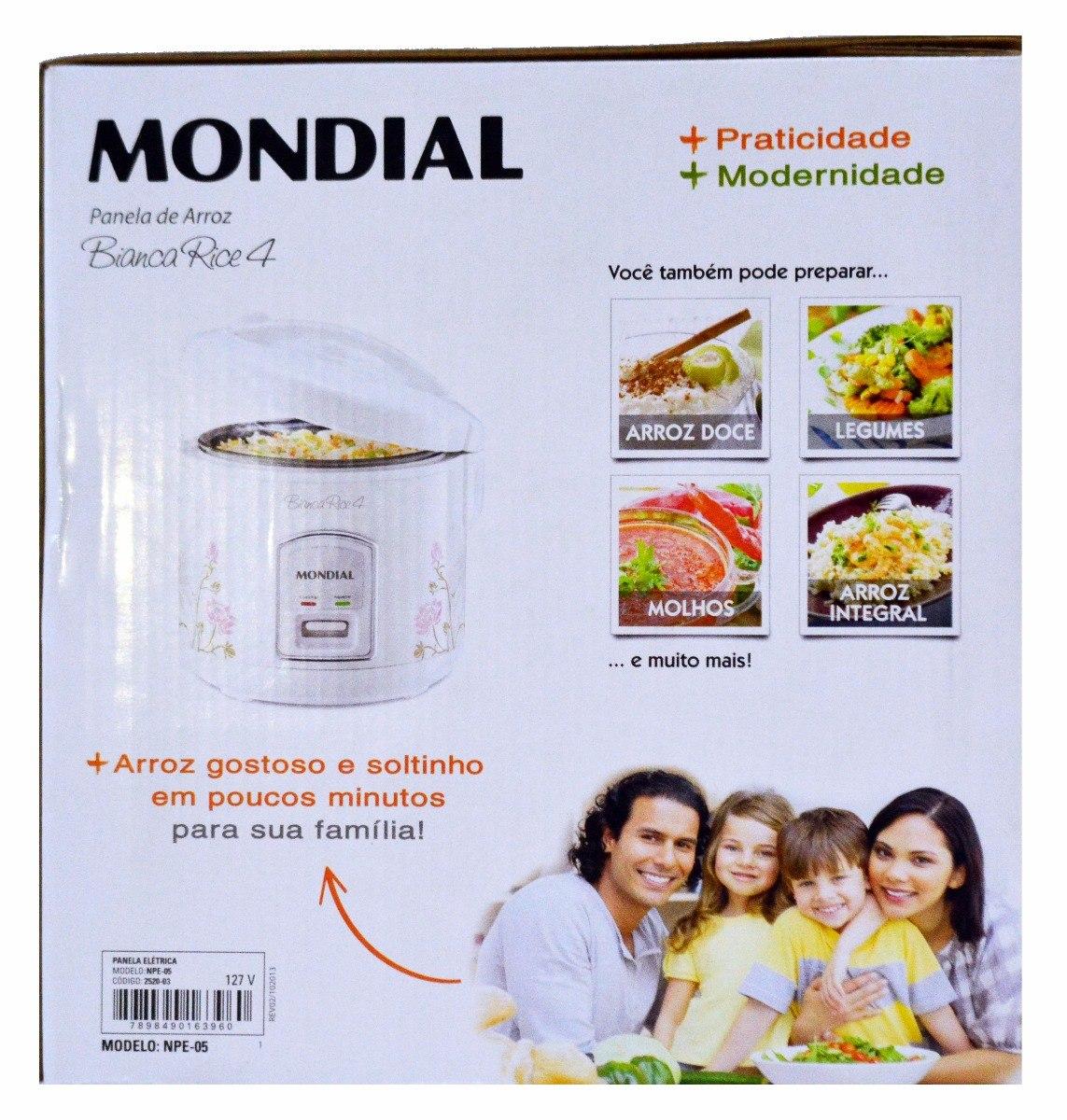 05716cd3e panela de arroz elétrica mondial bianca rice 4 - npe-05 - 1l. Carregando  zoom.