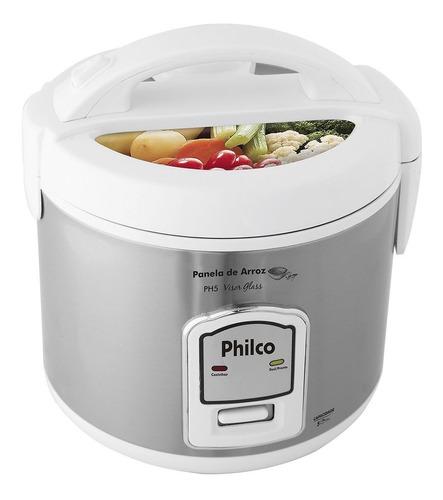 panela de arroz elétrica philco 5 xícaras cozinha legumes e verduras ph5 127v - branco