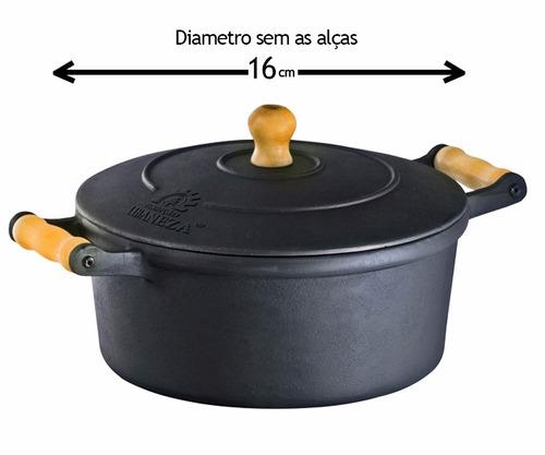 panela de ferro fundido nº 16  1 litro  espessura grossa